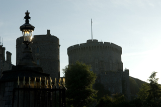 Windsor castle in the shadows
